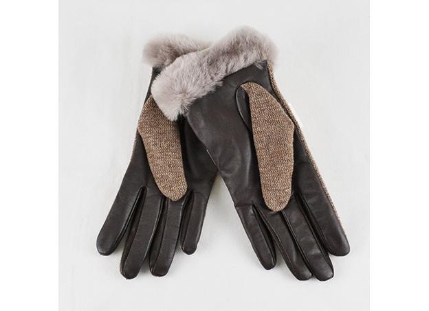 ugg damen handschuhe shorty smart in braun gr l neu ebay. Black Bedroom Furniture Sets. Home Design Ideas